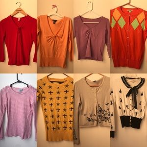 LONG SLEEVE LOT - size sm/med